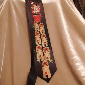 Noel 100% Silk Holiday Music Tie